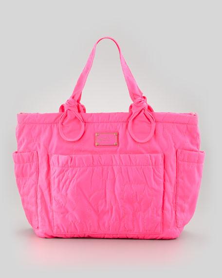 25fee07c4ec2a MARC by Marc Jacobs Eliz-A-Baby Pretty Nylon Diaper Bag, Pink