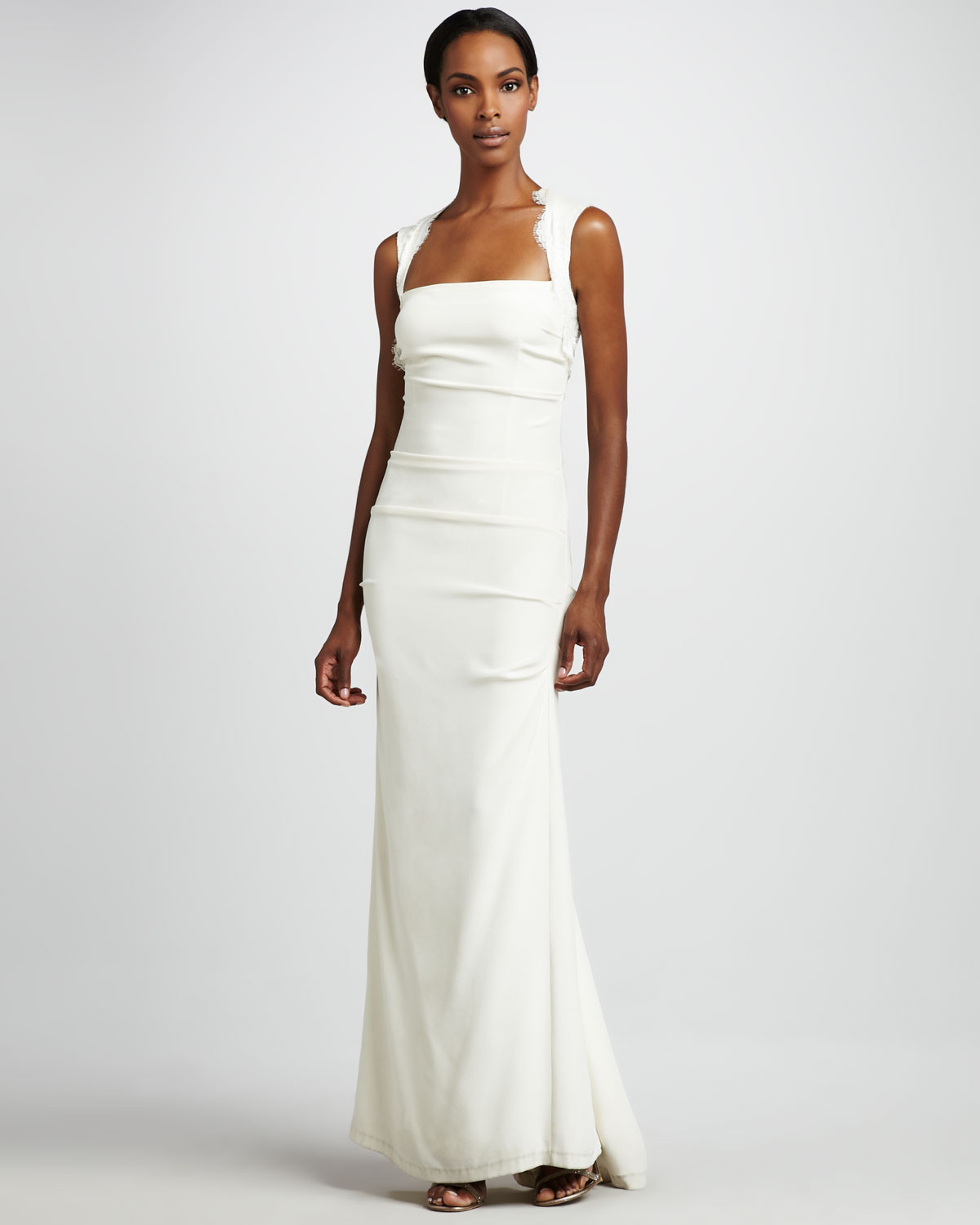 Nicole Miller Square Neck Gown