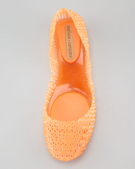Melissa + Campana Papel III Jelly Flats, Orange