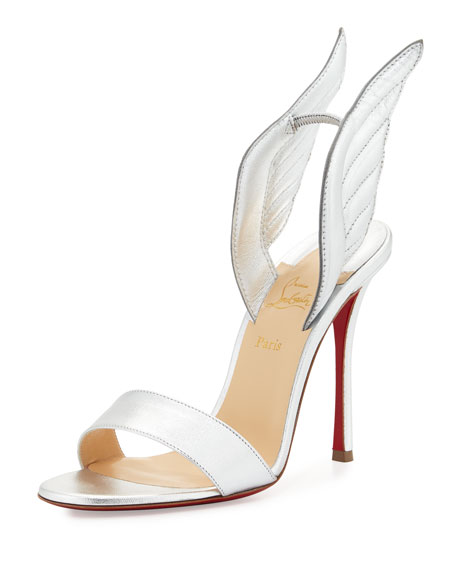 9ca4284c0e7 Samotresse 120mm Wing Red Sole Sandal Silver