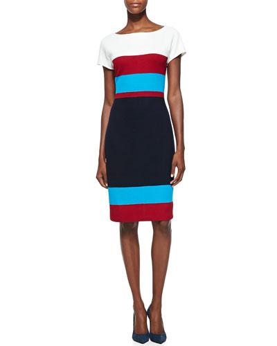 Mod Pique Knit Colorblock Dress