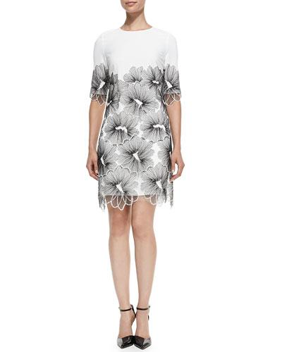Lace-Applique Tunic Dress