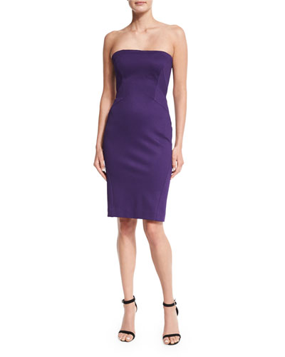 Strapless Bandage Jersey Sheath Dress
