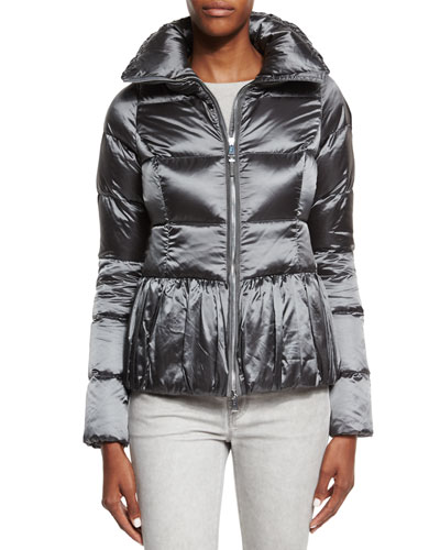 Water-Repellant Puffer Jacket, Slate