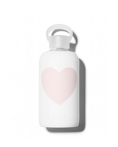 Glass Water Bottle, Winter Heart, 500 mL