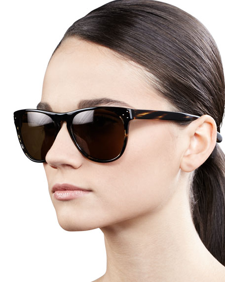 de4c43cbf90 Oliver Peoples Daddy B 58 Rounded Sunglasses