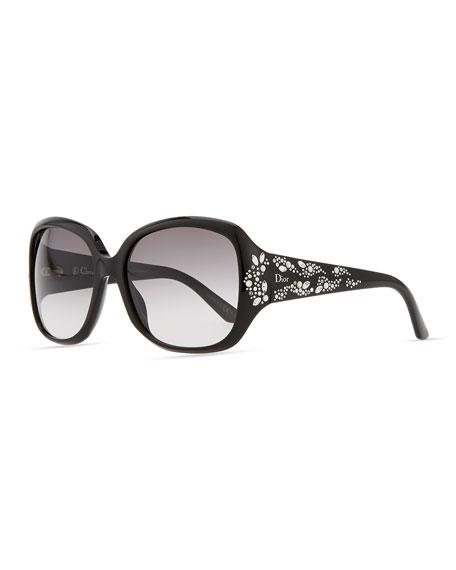 de3088c2fd Dior Minuit Crystal-Encrusted Oversized Wrap Sunglasses
