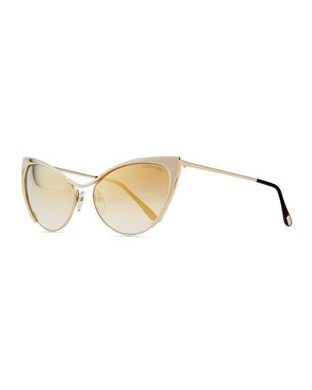 e33717cdbe03 TOM FORD Nastasya Metal Cat-Eye Sunglasses