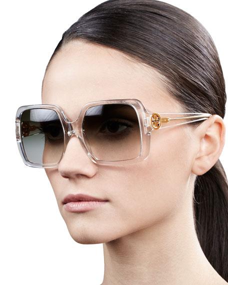 e27c46961d Tory Burch Sharp Square Sunglasses