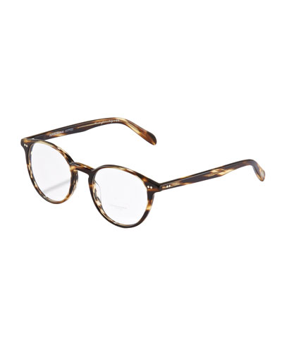 Elins Round Fashion Glasses, Cocobolo