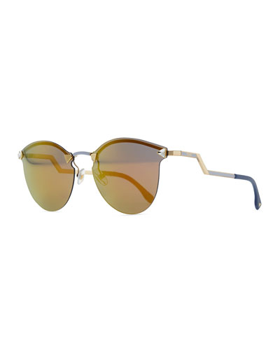 Rimless Glasses With Changeable Arms : Womens Sunglasses : Aviator & Havana Sunglasses at Neiman ...