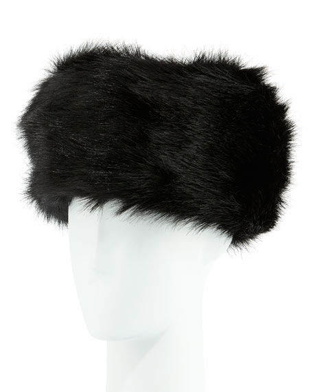 e3f61d35a Fabulous Furs Faux-Fur Russian Hat, Black Fox