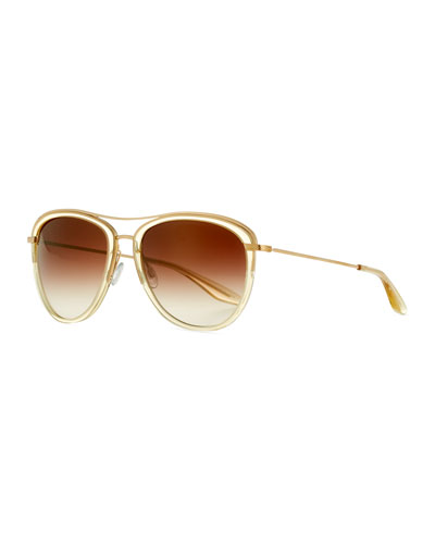 Universal Fit Aviatress Aviator Sunglasses, Champagne