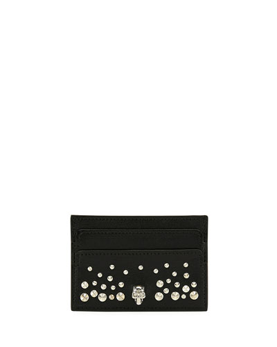 Skull Studded Card Holder