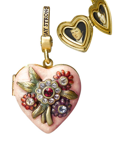 """Miranda"" Heart Locket Charm"