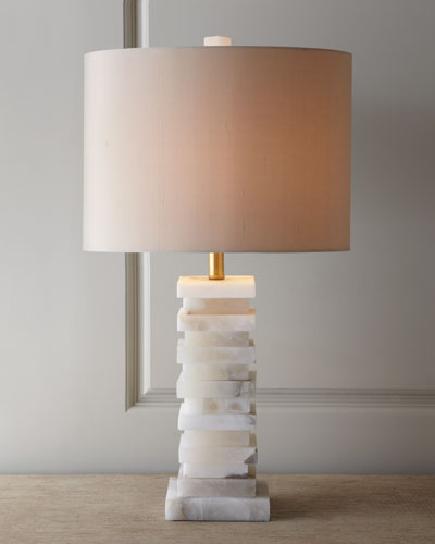 Stacked Alabaster Lamp