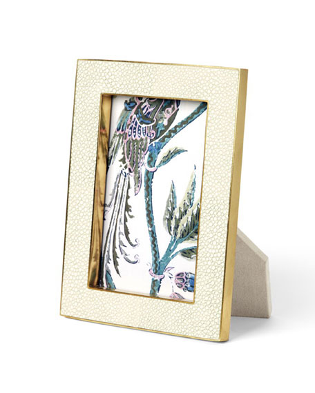 "Cream Shagreen 5"" x 7"" Frame"