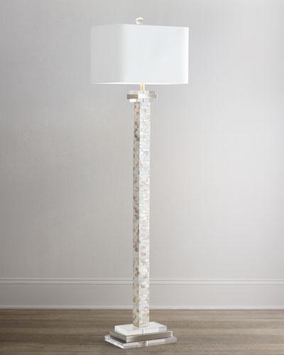 mother of pearl floor lamp. Black Bedroom Furniture Sets. Home Design Ideas
