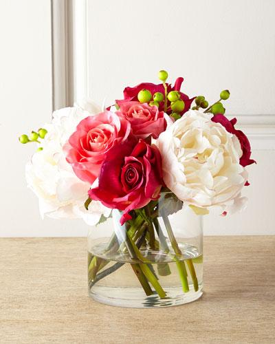 Candy Cane Faux-Floral Arrangement