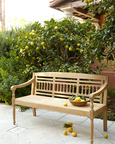 Maya Natural Teak Outdoor Bench