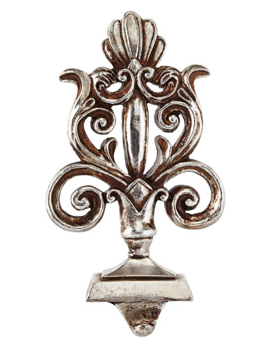 Baroque Silver Royal Scepter Stocking Hook