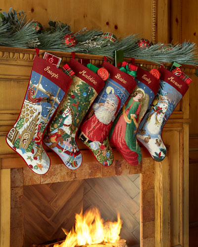 Needlepoint Holiday Stocking