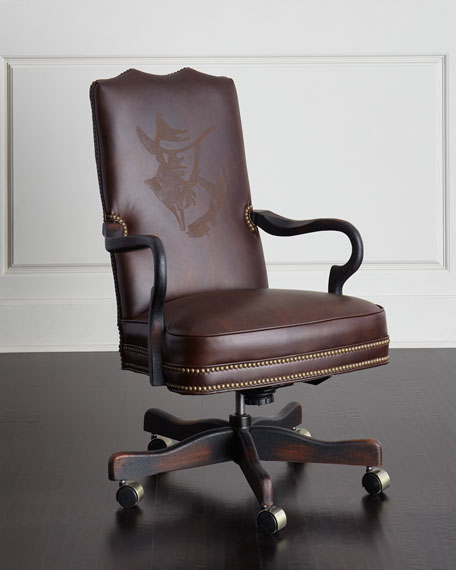 Old Hickory Tannery Clint Leather Office Chair
