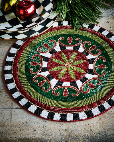 Festivity Beaded Placemat