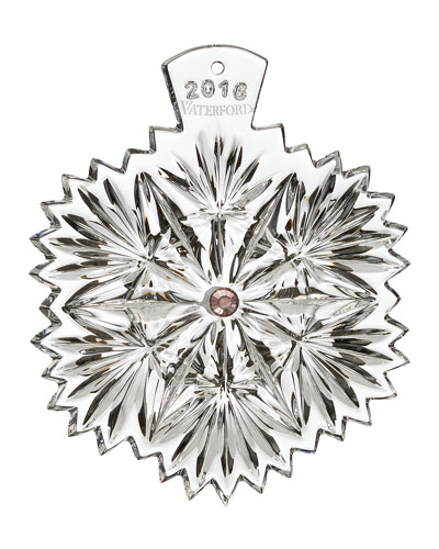 Snowflake Wishes 2016 Wishes for Serenity Christmas Ornament