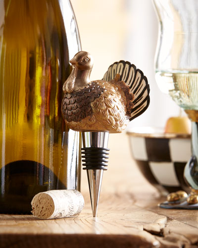 Autumn Harvest Turkey Bottle Stopper