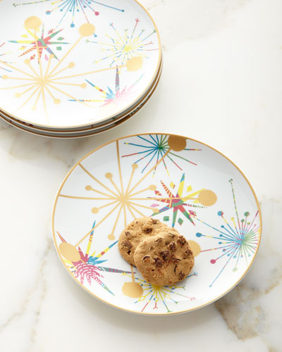 Crazy Good Cheer Dessert Plates, Set of 4