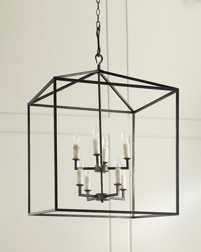 Blackened Iron Cage Lantern