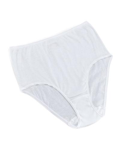 Cotton Seamless Briefs, White