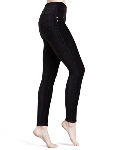 Ready-to-Wow Cord Leggings, Black