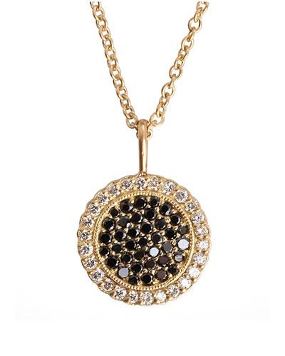 Two-Tone-Diamond Pendant 18k Gold Necklace