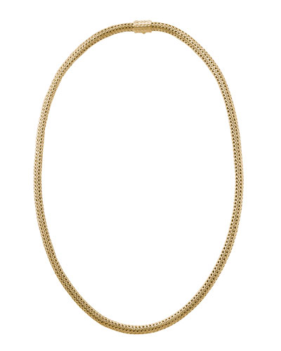 Extra Small Classic Chain Gold Necklace, 18