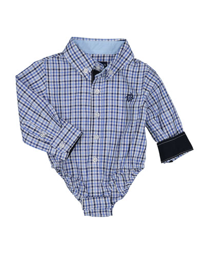 Boys' Checkered Dress Shirt, Size 3-24 Months