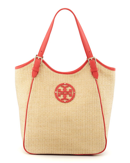 f698ef24a77 Tory Burch Small Slouchy Straw Tote Bag