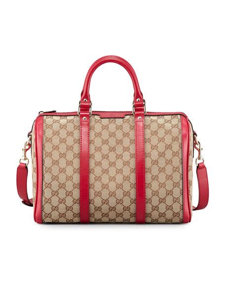 bbd27bfb9af4 Gucci Boston Vintage Web Bowler Bag