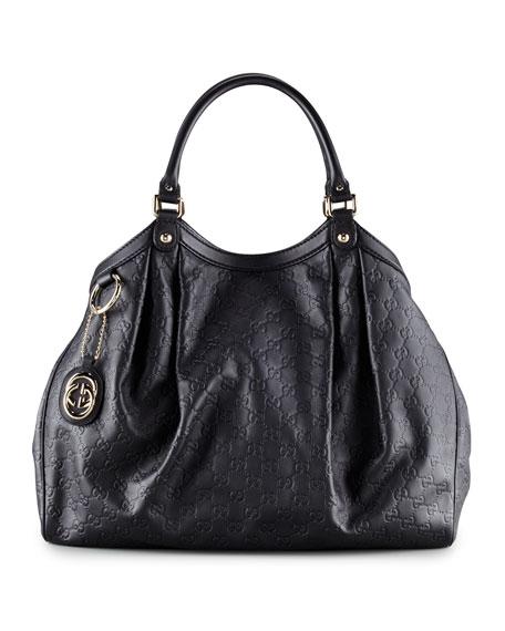 f0c080603da9 Gucci Sukey Large Guccissima Tote Bag, Black