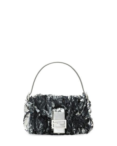 Fendi Baguette Paillette-Embellished Shoulder Bag oA8Qjias