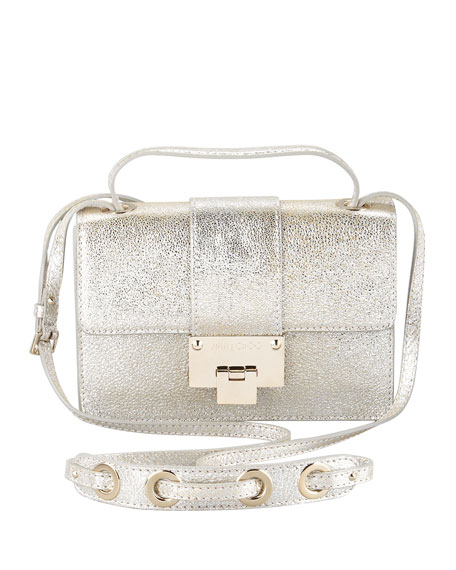 1660aba569 Jimmy Choo Rebel Metallic Flap Crossbody Bag