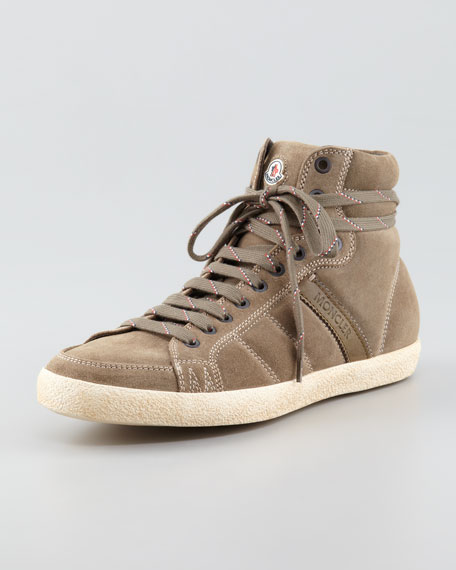 Moncler Suede High-Top Sneakers sale many kinds of choice sale online voZMbh3mN3