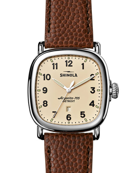 watches mens medium dealer authorised seiko leather british automatic men watch s skeleton company brown