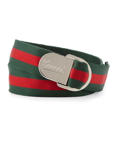 7a6e9fe76b5 Gucci Script D-Ring Belt