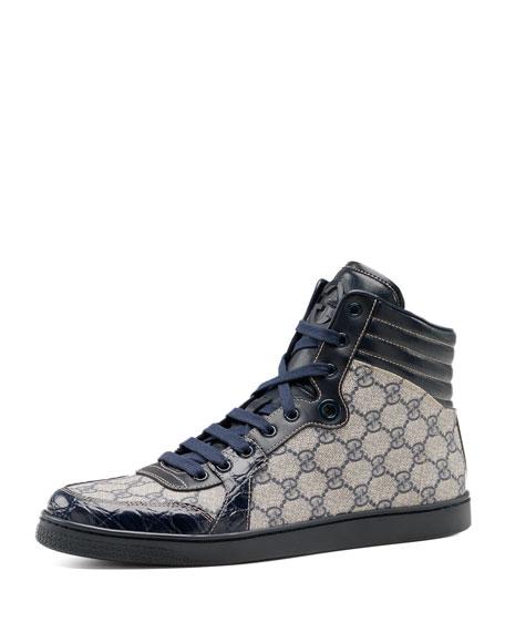 412b017811e Gucci GG Plus-Crocodile Sneaker