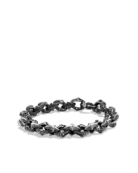 Armory Small Link Bracelet With Black Diamonds