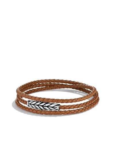 Chevron Triple-Wrap Bracelet in Camel