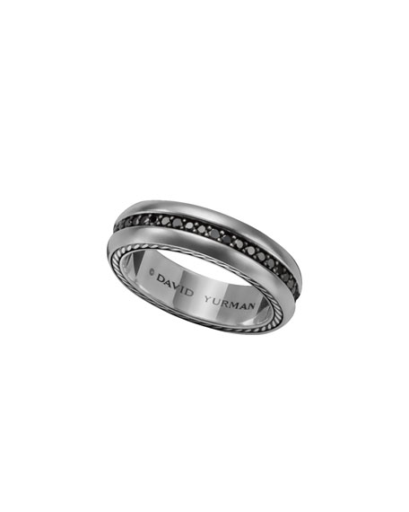 a00cb7ddeaebe Streamline Narrow Band Ring with Black Diamonds