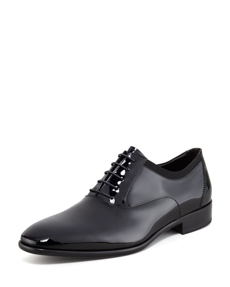 Salvatore Ferragamo Aiden Patent Leather Oxfords NrAyDzUcou